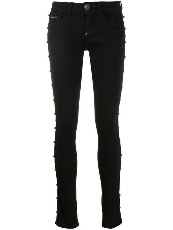 Philipp Plein slim fit stars jeans in black