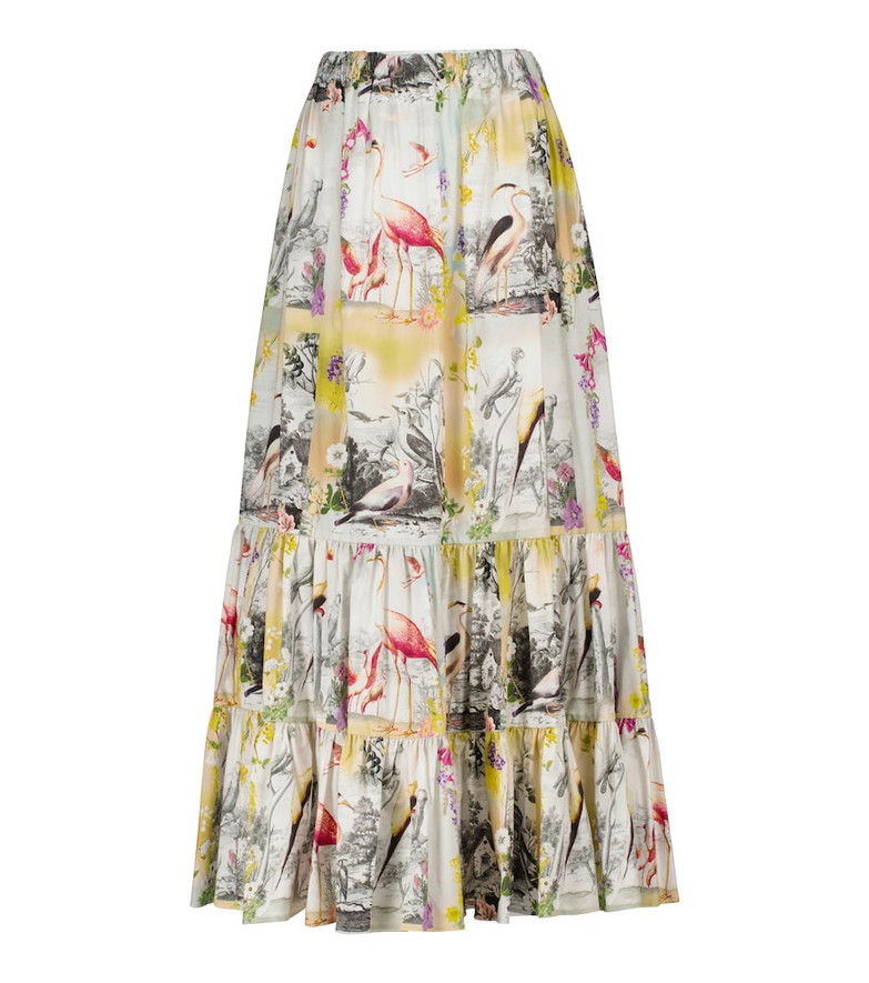ETRO Printed cotton maxi skirt