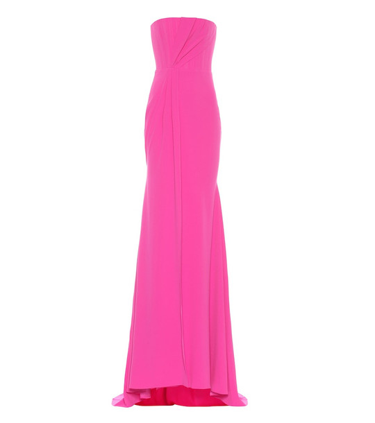 Alex Perry Garnet crêpe strapless gown in pink