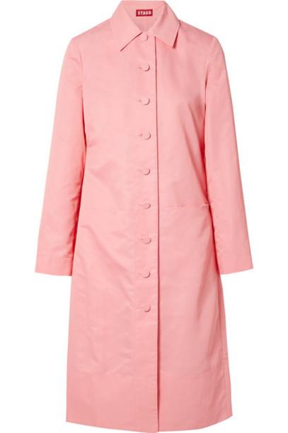 STAUD - Maura Shell Trench Coat - Pink