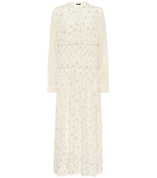 Joseph Tala floral-printed silk dress in white