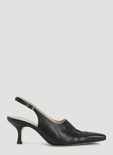 Kalda Cut-Out Slingback Heels in Black size EU - 40