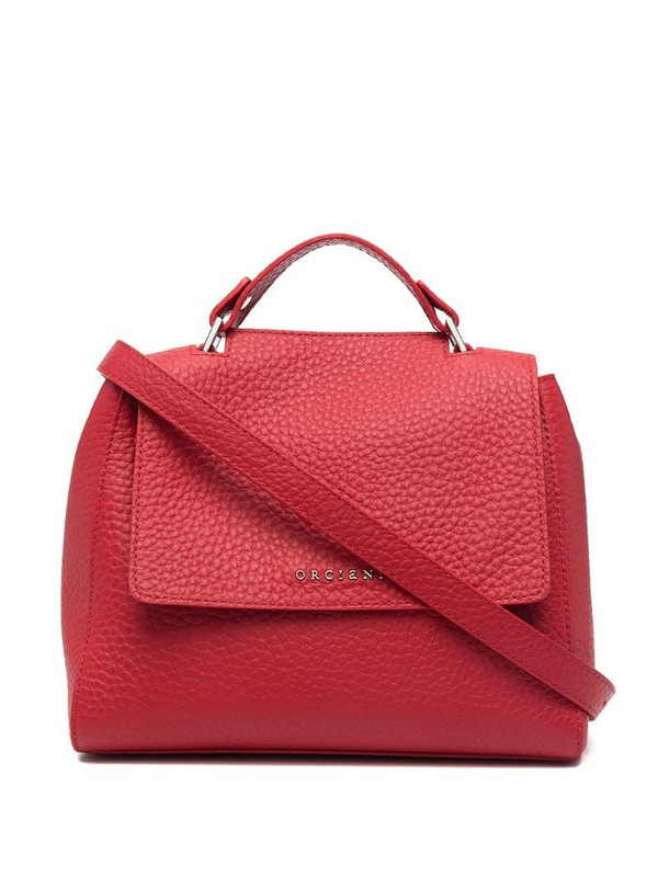 Orciani Sveva Soft small shoulder bag in red