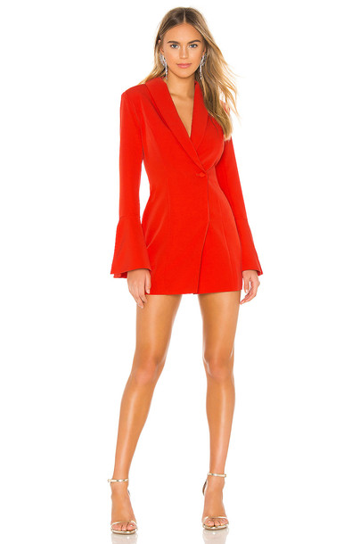 NBD Como La Flor Suit Dress in red