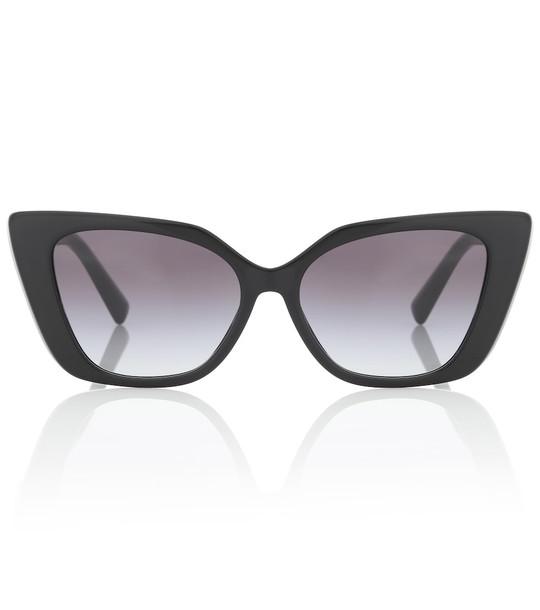 Valentino VLOGO acetate cat-eye sunglasses in black