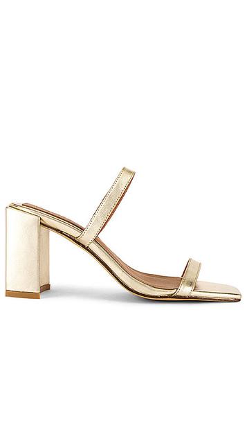 JAGGAR x REVOLVE Square Heel in Metallic Gold