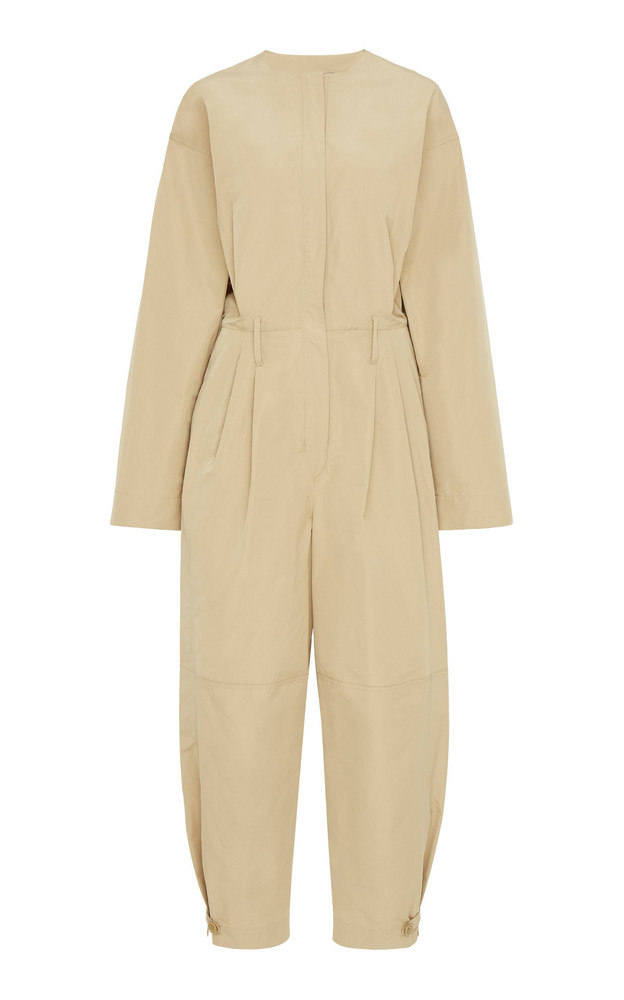 Givenchy Cotton-Canvas Jumpsuit Size: 34 in neutral