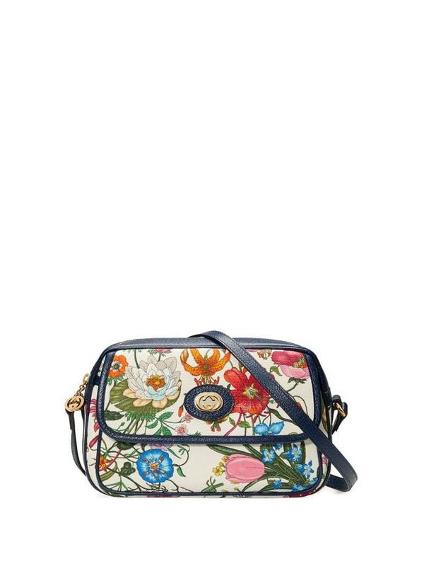 Gucci small flora shoulder bag in blue