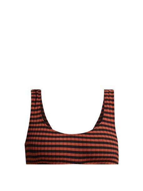 Solid & Striped - The Elle Bikini Top - Womens - Black Red