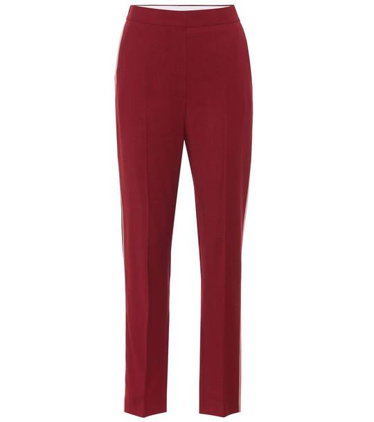 Roksanda High-rise wool crêpe pants in red