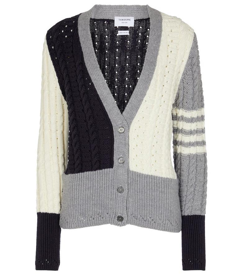 Thom Browne Colorblocked wool cardigan