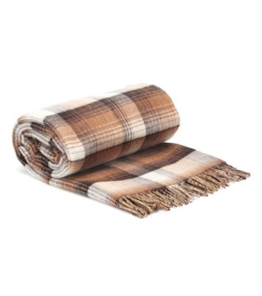 Gucci GG reversible wool blanket scarf in brown