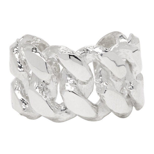 Pearls Before Swine Silver Sliced Link Ring