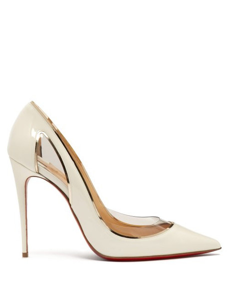 Christian Louboutin - Cosmo 554 Patent Leather Pumps - Womens - White