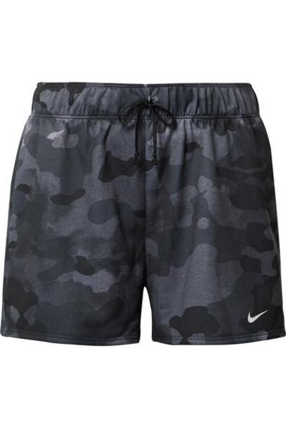 Nike - Rebel Camouflage-print Dri-fit Jersey Shorts - Black
