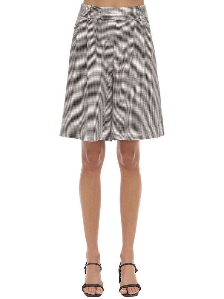 REMAIN Kit Linen Blend Shorts in grey
