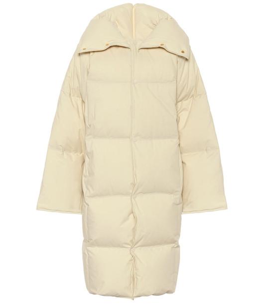 Bottega Veneta Quilted cotton down puffer coat in white