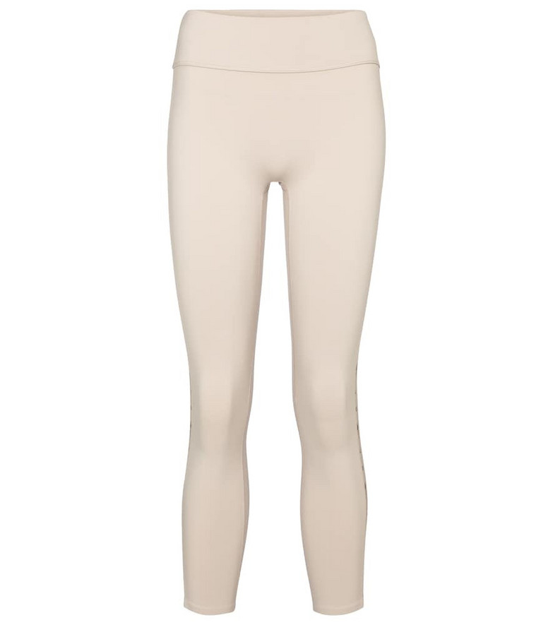 Reebok x Victoria Beckham Cropped technical-jersey leggings in white