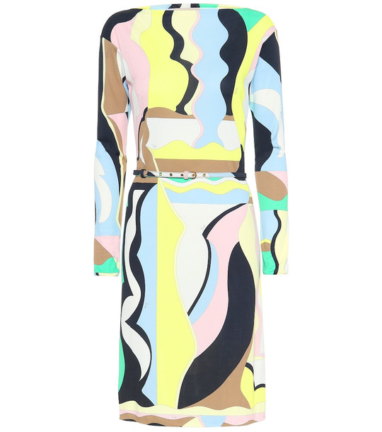 Emilio Pucci Printed silk-blend midi dress