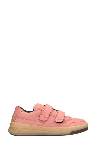 Acne Studios Pink Leather Steffey Sneakers