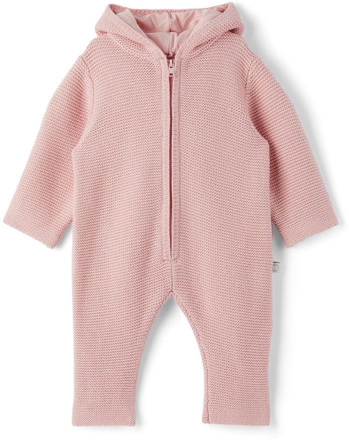 Stella McCartney Baby Doggie Knit Bodysuit in pink