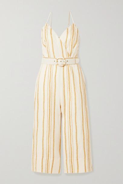 Nicholas - Seta Printed Linen Jumpsuit - Cream