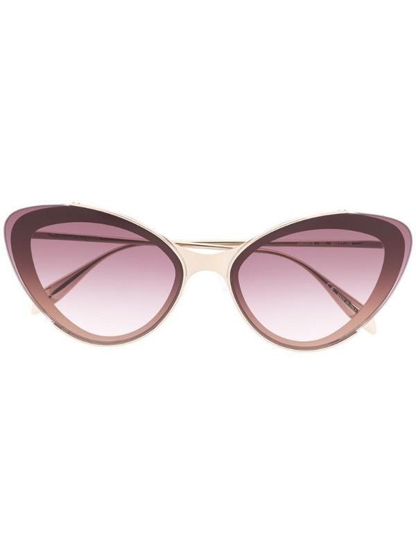Alexander McQueen Eyewear gradient lens cat-eye sunglasses in gold