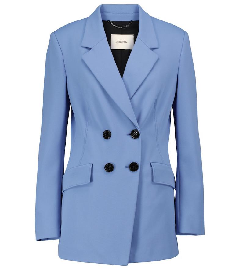 Dorothee Schumacher Exclusive to Mytheresa – Structured Allure stretch-jersey blazer in blue