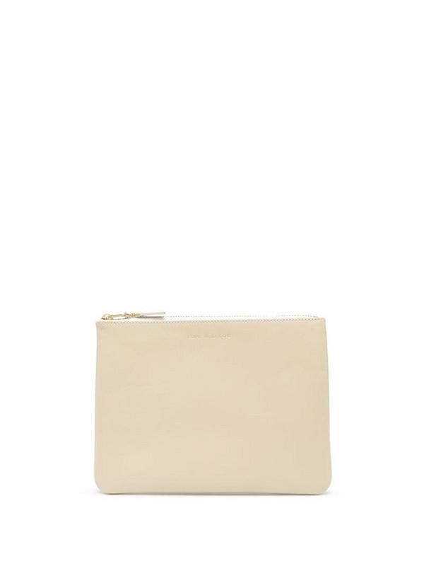 Comme Des Garçons Wallet leather purse in neutrals