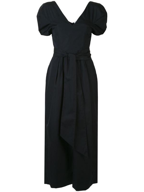 Gabriela Hearst puff-sleeve midi dress in blue