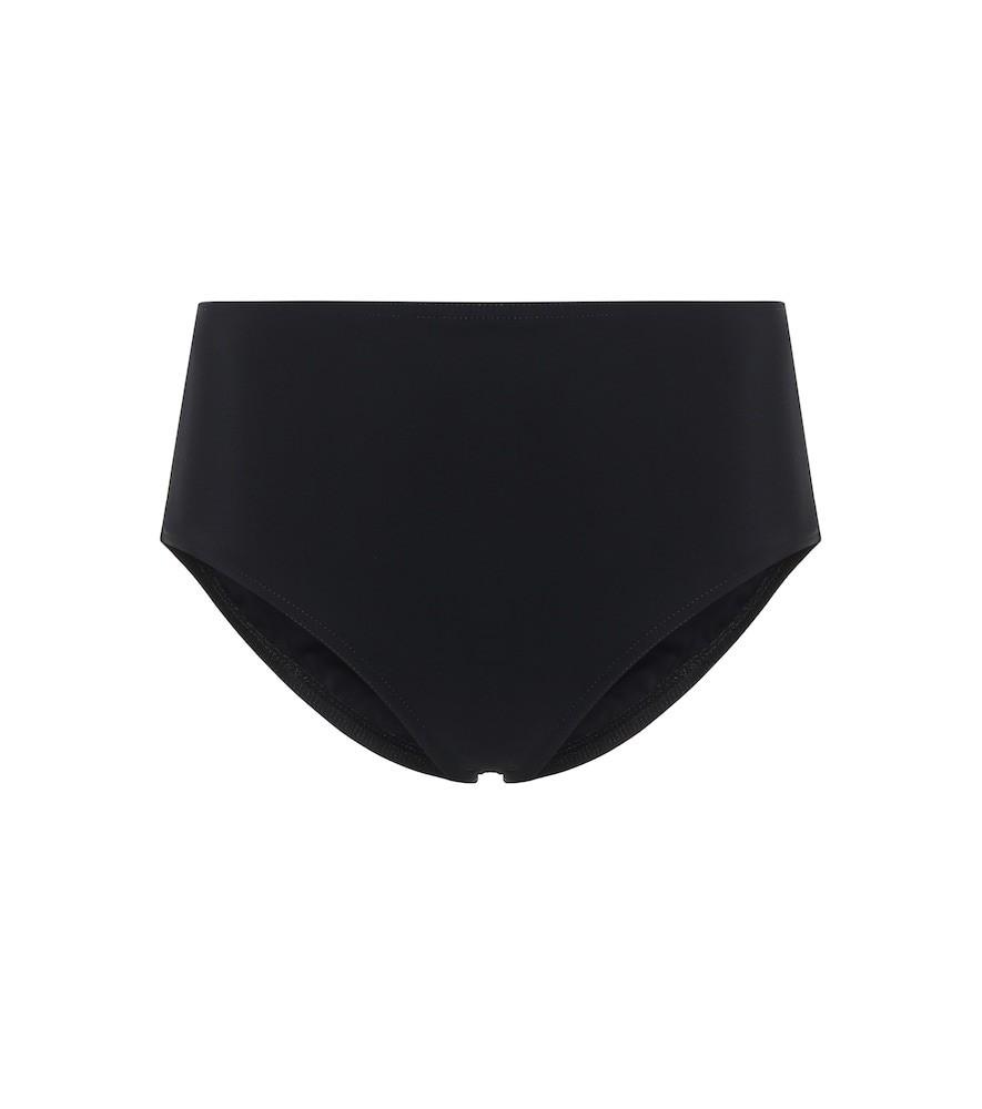 Karla Colletto Basic high-rise bikini bottoms in black