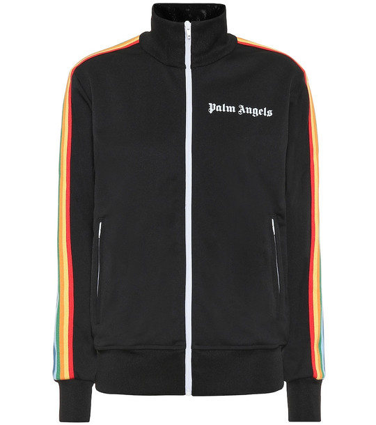 Palm Angels Logo track jacket in black