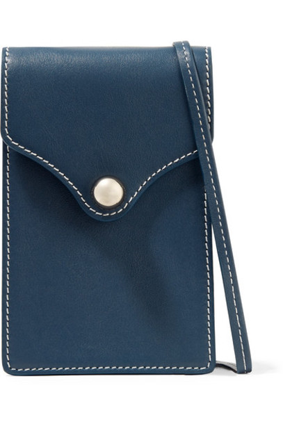 Ratio et Motus - Disco Mini Leather Shoulder Bag - Blue