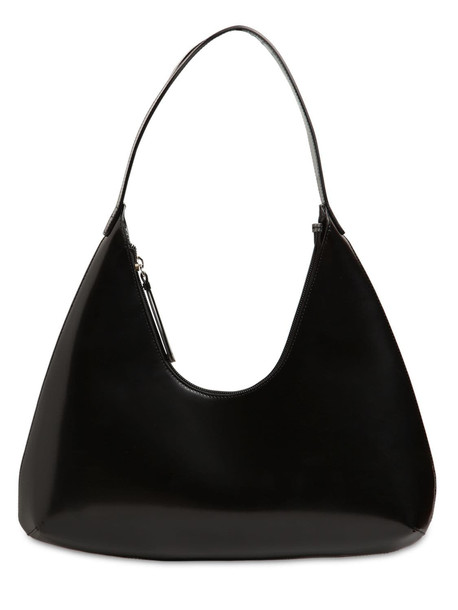 BY FAR Amber Semi Patent Leather Bag in black