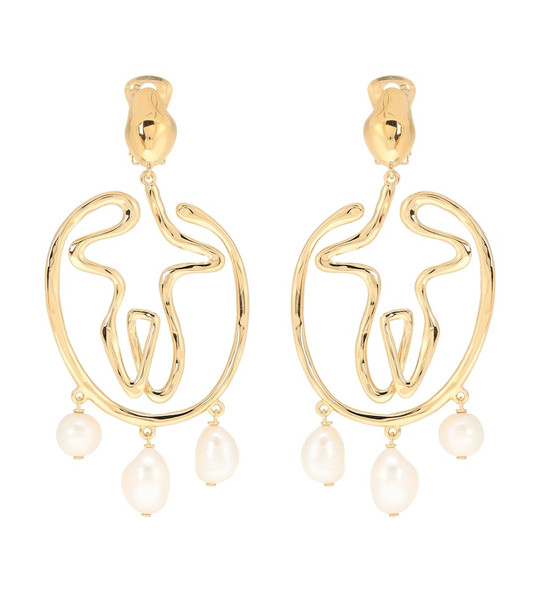 Chloé Femininities earrings in gold