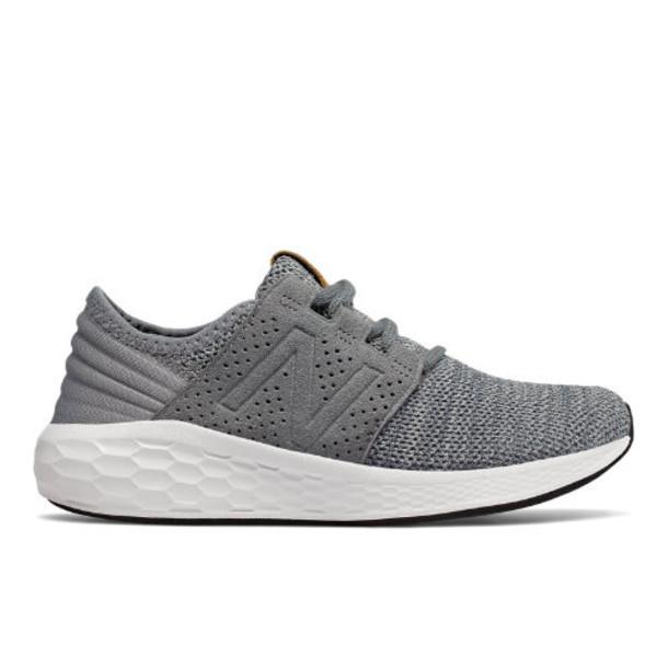 New Balance Fresh Foam Cruz Knit Kids Grade School Running Shoes - Grey/White (KJCRZKPG)