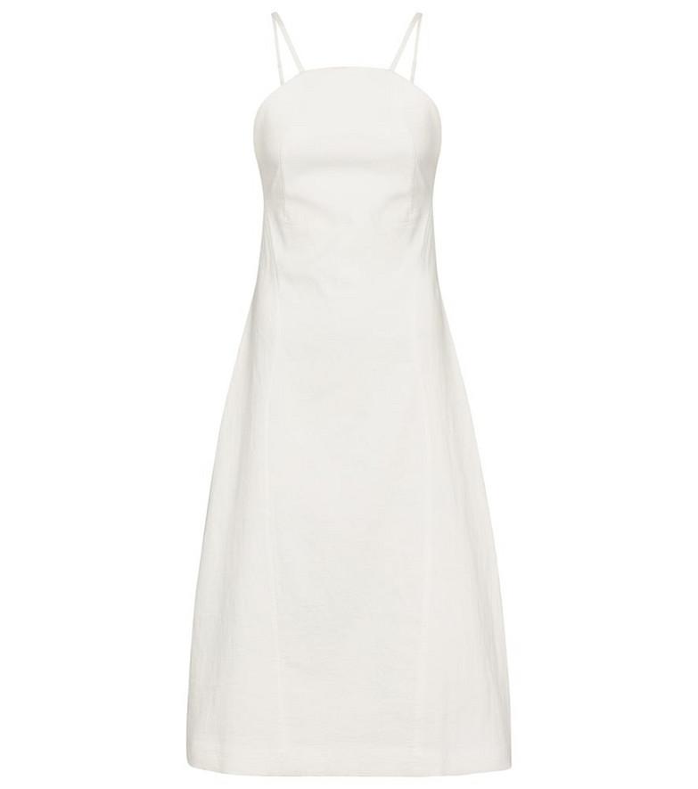 Low classic Cotton-blend midi dress in white