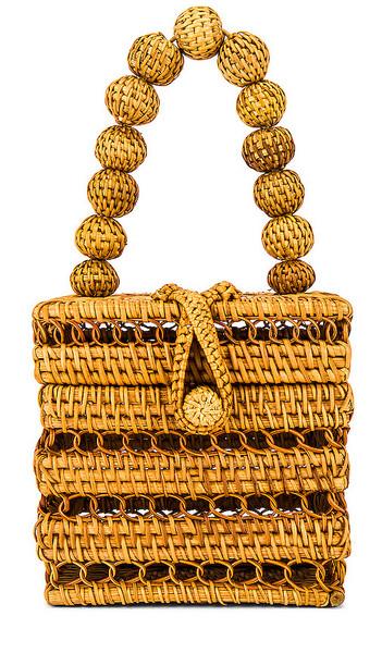 Cult Gaia Eos Top Handle Bag in Brown in natural