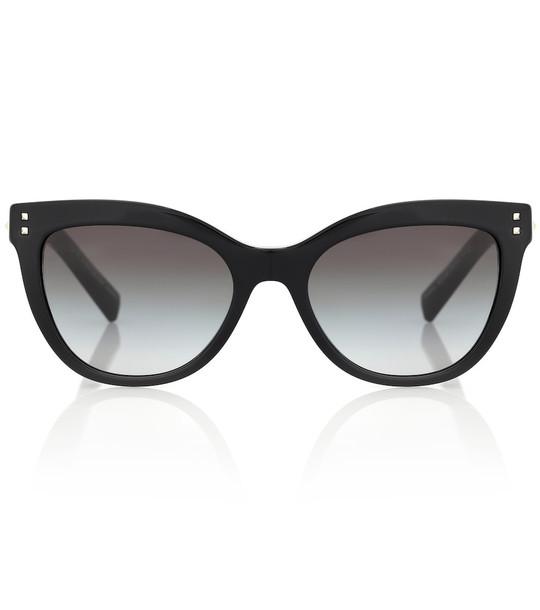 Valentino Embellished cat-eye sunglasses in black