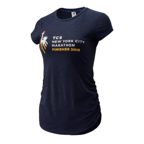 New Balance 93180 Women's NYC Marathon Transform Perfect Tee - Navy (WT93180MPGH)