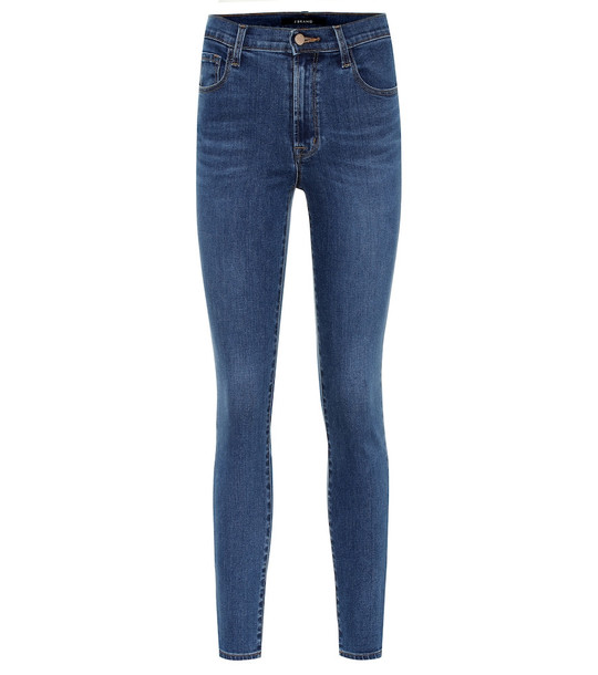 J Brand Leenah high-rise skinny jeans in blue