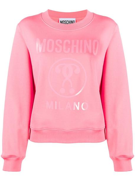 Moschino Milano logo-print sweatshirt in pink