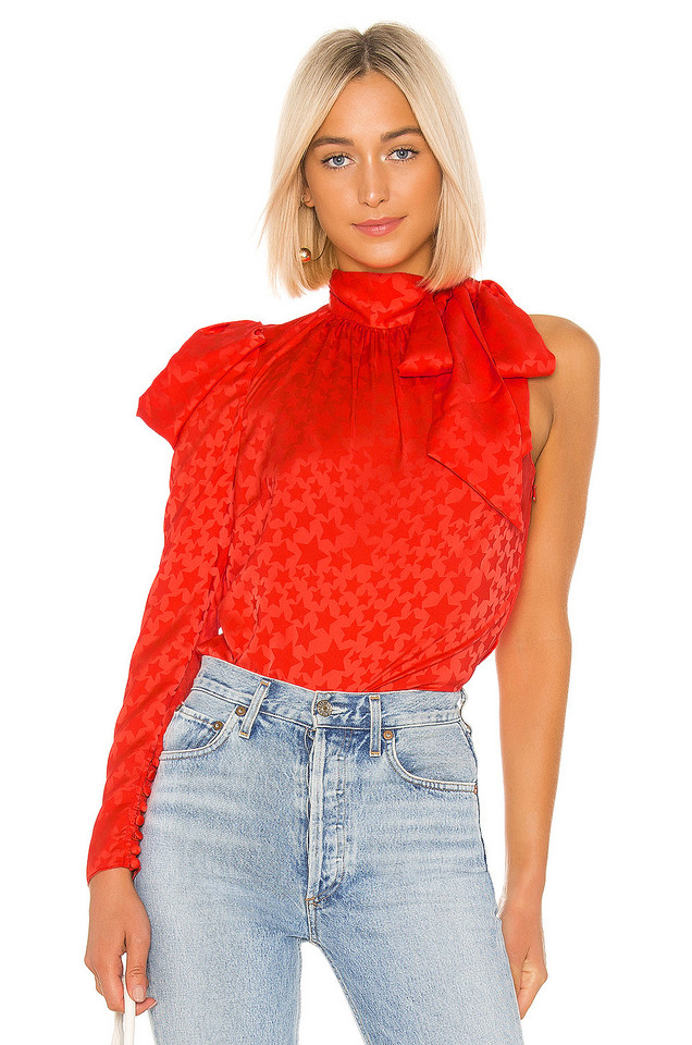 L'Academie The Anais Blouse in red