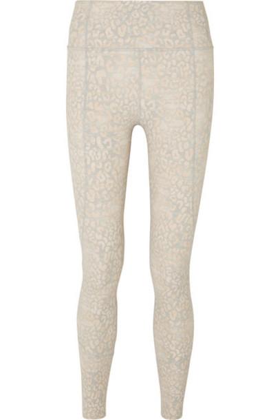 Varley - Bedford Printed Stretch Leggings - White