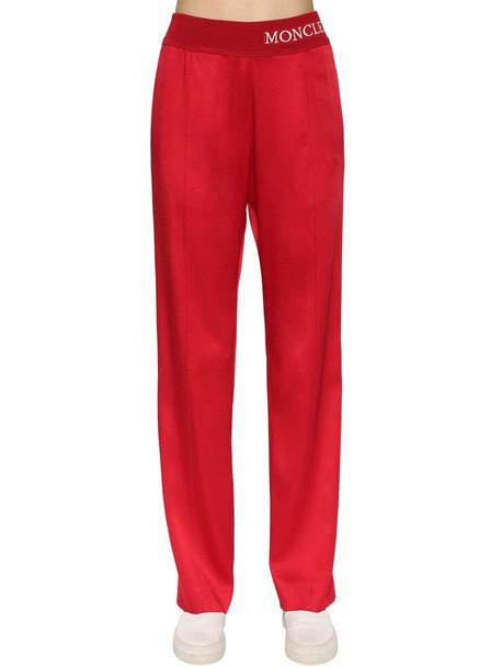 MONCLER Viscose Blend Track Pants in red