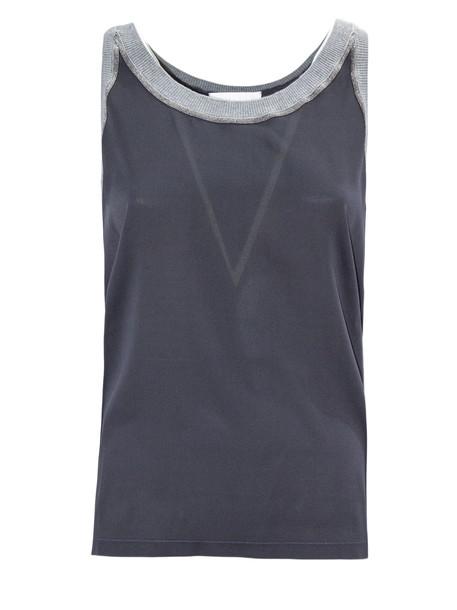 Fabiana Filippi Grey Silk Top