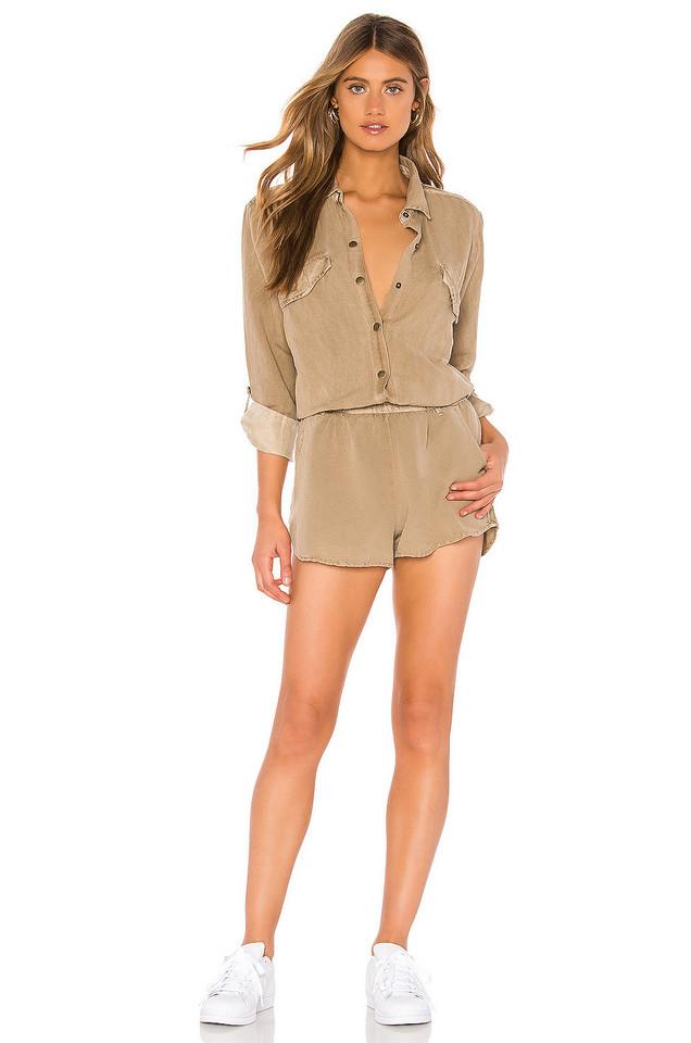 YFB CLOTHING Noah Romper in brown