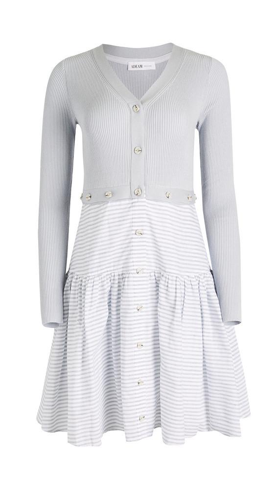 Adeam Convertible Knit Dress in grey