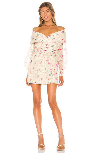 L'Academie The Liliana Mini Dress in Cream
