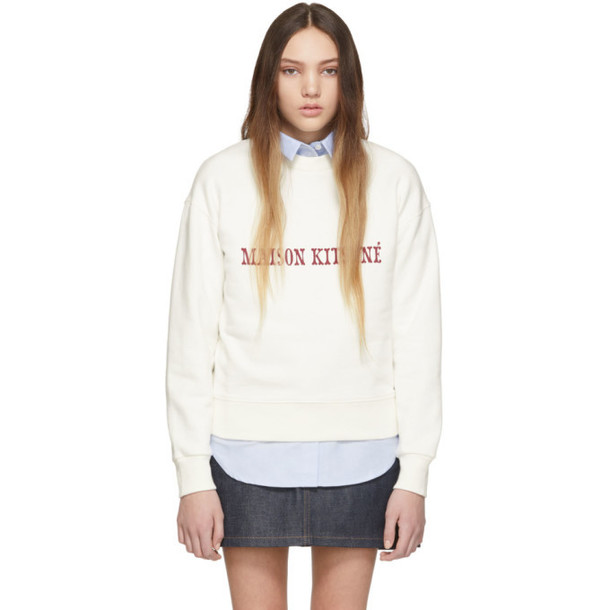 Maison Kitsuné Maison Kitsuné Off-White Logo Sweatshirt